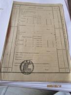 CHEMIN DE FER DE L EST Titre De Transport 19 Avril 1930 Timbre Fiscal 70c Récépissé Des Chemins De FER - Titres De Transport