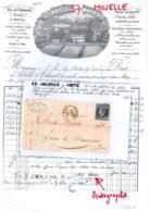 57 - MOSELLE - F-57-4 - METZ - Lettre Commerciale SIBILLE ET THIRIET - Toiles -  Généalogie - 1855 - 1800 – 1899