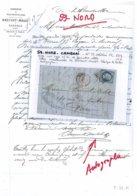 59 - NORD - F-59-11 - CAMBRAI - Lettre Commerciale BRICOUT-MOLET -toiles  -  Généalogie - 1862 - 1800 – 1899