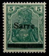 SAARGEBIET GERMANIA Nr 4aIII Postfrisch Gepr. X6ACD2A - 1920-35 Saargebiet – Abstimmungsgebiet