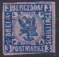 GERMANIA ANTICHI STATI BERGEDORF 1861 STEMMI DI LUBECCA E AMBURGO UNIF. 6  MLH VF - Bergedorf