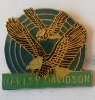 Pin's - HARLEY-DAVIDSON - 2 Aigles ( Edition Verte) - Motorfietsen