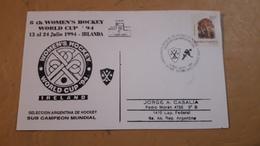 Enveloppe Mondiale De Hockey Féminin D'Argentine - Hockey (Field)