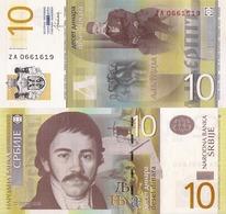 SERBIA, 10 DINARA, 2013, P54b, Replacement Banknote, UNC - Serbia