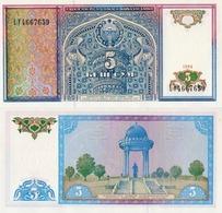 Uzbekistan, 5 Sum, 1994, P75, UNC - Uzbekistan