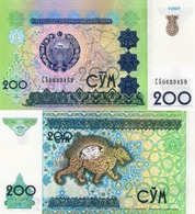 Uzbekistan, 200 Sum, 1997, P80, UNC - Uzbekistan