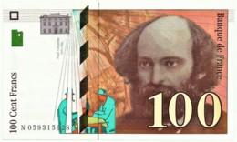 FRANCE - 100 Francs - 1998 - P 158 - Unc. - Serie N - PAUL CÉZANNE - 1992-2000 Ultima Gama
