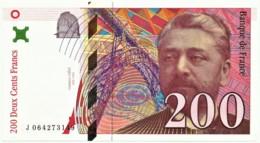 FRANCE - 200 Francs - 1997 - P 159.b - Unc. - Serie J - Gustave Eiffel - 1992-2000 Dernière Gamme