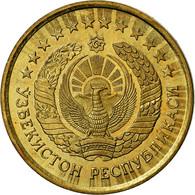 Monnaie, Uzbekistan, 3 Tiyin, 1994, TTB, Brass Plated Steel, KM:2.2 - Uzbekistan