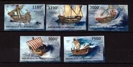 Burundi, 2012. [bq12258] Medieval Ships (imperf) - USA