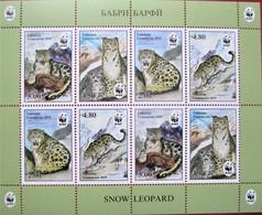 Tajikistan  2019  WWF Snow Leopard, Animals, Mountains   M/S  Perforated.  MNH - Tadjikistan