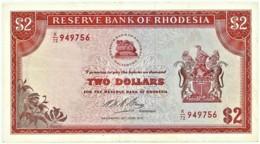 Rhodesia - 2 Dollars - 1973.06.29 - P 31.g - Serie K/72 - Sign. 1 - Rhodésie