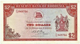 Rhodesia - 2 Dollars - 1973.06.29 - P 31.g - Serie K/72 - Sign. 1 - Rhodesia