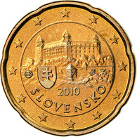 Slovaquie, 20 Euro Cent, 2010, BU, FDC, Laiton, KM:99 - Slovaquie