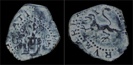 Spain Philip II 2 Caurtos-marvedis ND Cuenza Mint - Provincial Currencies