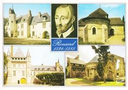 41 Vendome Pierre De Ronsard Son Manoir De La Poissonnière Chapelle Saint Gilles Chateau De Talcy (2 Scans) - Vendome
