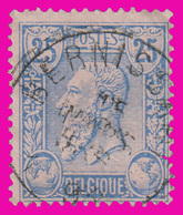 """COB N° 48 - Belle Oblitération """"BERNISSART"""" - 1884-1891 Leopold II"""