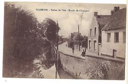"""62 WIZERNES VALLEE DE L""""AA ROUTE DU CHOCQUET 1922 CPA 2 SCANS - France"""
