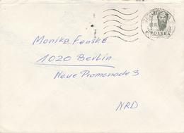 POLEN / POLAND  -  CZESTOCHOWA  - 1988  -  Kopf Eines Gelehrten -   Brief Nach Berlin - 1944-.... Republik