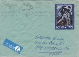 POLEN / POLAND  -  WARSZAWA  - 1986  -  Hl. Franziskus  -   Brief Nach Würzburg - 1944-.... Republik