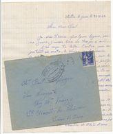 SAVOIE CHANTIER DE LA JEUNESSE LAC 1942 LE CHATELARD LETTRE DATEE DE AILLON LE JEUNE CHANTIER DE JEUNESSE GPT N°8 LE CHA - 1921-1960: Modern Period