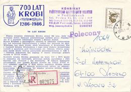 POLEN / POLAND  -  KROBIA  - 1989  -  Männerkopf  -   Brief Nach Leszno - 1944-.... Republik
