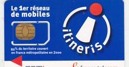 GSM  ITINERIS  ..FRANCE TELECOM..  AVEC PUCE - Nachladekarten (Handy/SIM)
