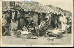 AFRICA SOMALIA MOGADISHU MARKET OLD POSTCARD - Somalie