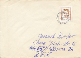 POLEN / POLAND  -  RUDA SLASKA  - 1987  -   Frauenkopf   -   Brief Nach Worms - 1944-.... Republik