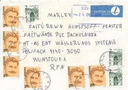 POLEN / POLAND  -  STUBNO  - 1989  -   Plock , I. Daszinski  -   Brief Nach Wunstorf - 1944-.... Republik