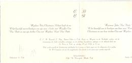 Aankondiging Huwelijk - Faire Part Mariage - André Christiaens X Elza Van Daele - Tielt 1958 - Ruiselede Doomkerke - Wedding