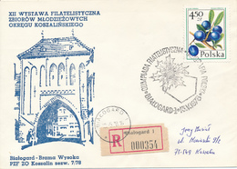 POLEN / POLAND  -  BIALOGARD   - 1978  -   Schlehe  -   R-Brief Nach Koszalin - Briefe U. Dokumente