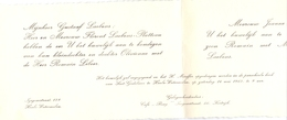 Aankondiging Huwelijk - Faire Part Mariage - Romain Libeer X Olivienne Laebens - Heule Watermolen - Kuurne - 1960 - Wedding
