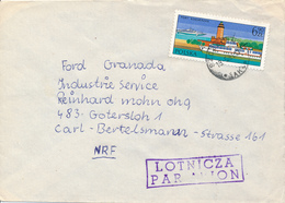 POLEN / POLAND  -  SZCZECIN   - 1981  -   Leuchtturm In Kolberg  -  Brief Nach Gütersloh - 1944-.... Republik