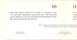 Aankondiging Huwelijk - Faire Part Mariage - Olivier Laebens X Monique Cannoot - Heule Watermolen - Kortrijk - 1958 - Mariage