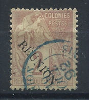 Réunion N°18 Obl (FU) 1891 - Réunion (1852-1975)
