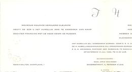 Aankondiging Huwelijk - Faire Part Mariage - Henri De Rudder X Francine Verduere - Maria Aalter - Vurste - 1962 - Mariage