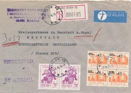 POLEN / POLAND  -  KIELCE - 1978 , Warschau , Schwertlilie  -  R-Brief Nach Neustadt / Rbg. - Briefe U. Dokumente