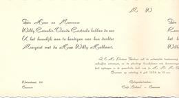 Aankondiging Huwelijk - Faire Part Mariage - Willy Hallaert X Margriet Cornelis - Beernem 1964 - Mariage
