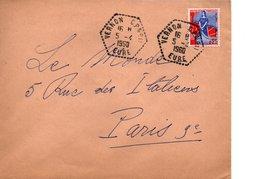 Sur Enveloppe, Cachets  Hexagonaux VERNON    EURE   1960 - 1921-1960: Periodo Moderno
