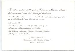 Aankondiging Huwelijk - Faire Part Mariage - Chris X Maurice - Adam X Vanhoutte - Torhout 1969 - Mariage