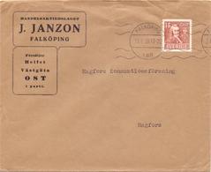 Enveloppe Omslag Kuvert - Pub Reclame J. Janzon - Falköping  - Sverige - Suède - Zweden - 1939 - Postal Stationery