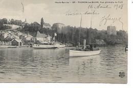 74 - THONON LES BAINS - Vue Géénérale Du Port  (Bâteaux - 1908) - Thonon-les-Bains