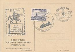 POLEN / POLAND  -  OGOLNOPOLSKI   -  7.7.38  ,  Sonderstempel  Briefmarkenausstellung - 1919-1939 République