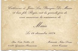Geboortekaartje - Faire Part De Naissance - Marie Planque - Gaurain Ramecroix - Tournai - 19 Dec. 1979 - Birth & Baptism