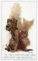 """René Hausman - """"Ne Nous Abandonnez Pas ..."""" (chat - Chien) - Other Illustrators"""