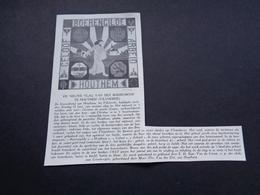 """Origineel Knipsel ( 3987 ) Uit Tijdschrift """" Ons Volk """"  1927 :  Nieuwe Vlag Van De Boerenbond Te Houthem ( Vilvoorde ) - Vieux Papiers"""