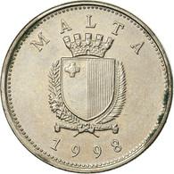 Monnaie, Malte, 10 Cents, 1998, British Royal Mint, TB+, Copper-nickel, KM:96 - Malta