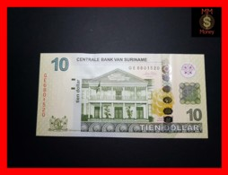 SURINAME 10 Dollar 1.9.2010 P. 163 A  UNC - Surinam