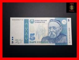TAJIKISTAN 5 Somoni 1999 P. 15  Blue Vignette   UNC - Tadschikistan
